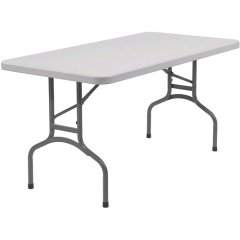 Rental store for TABLE, BANQUET, 4  BLACK PLASTIC FOLDING in Boise ID